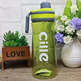 Satyam Kraft Plastic Cille Detox Water Bottle 1 Pcs -800 Ml, (Green)