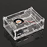 #10: Tradico® Transparent Acrylic Case Shell Enclosure Box with Fan for Raspberry Pi 3B/2B/B+ One Piece