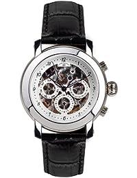 André Belfort 410045 - Reloj analógico de caballero automático con correa de piel negra - sumergible a 50 metros