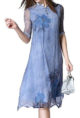 Lacus-UK - Robe - Robe - Femme Bleu Bleu Bleu - Bleu