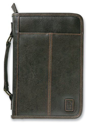Aviator Leather-look Brown Large Book & Bible Cover