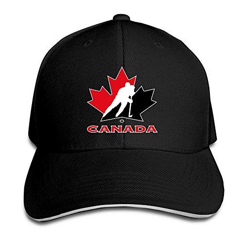 Cap Hat TopSeller Unisex Canada National Ice Hockey Team Logo Adjustable Peaked Baseball Caps Hats...