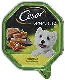 Cesar Hundefutter Nassfutter Gartenvielfalt Huhn und Gemüse, 14 Schalen (14 x 150 g)