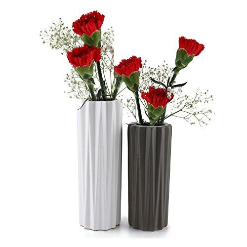 Mucihom bud vases vasi pancromatico ceramica matte set di 2, vaso di fiori vasi decorativi moderni collection per ricorrenze decorazioni per interni ristorante bar cafe porcellana