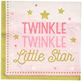 One Little Star Girl - Twinkle Luncheon Napkins