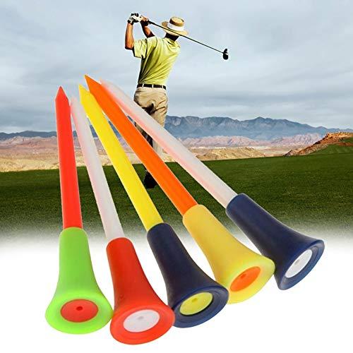 Terzsl 10 Stück Mehrfarbig Kunststoff Durable Training Golf Tees Club Ball Halter Zubehör -