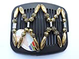 African Butterfly hair clip Beada 3059 11cm Black comb by African Butterfly