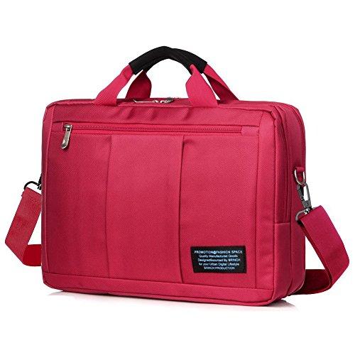 Imagen de hombres y mujeres 15.6 pulgadas impermeable nylon bolsa de mensajero viajes de negocios tableta del ordenador portátil bolso bandolera puede convertirse en