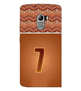 PrintDhaba Numerology Number 7 D-3639 Back Case Cover for LENOVO VIBE K4 NOTE (Multi-Coloured)