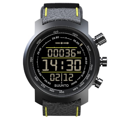 Suunto Elementum Terra N/ Black/Yellow Leather Orologio, Unisex Adulto, Nero/Giallo