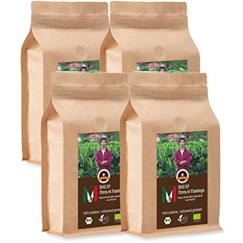 Kaffee Globetrotter - Mexico Finca El Flamingo - Bio - 4 x 1000 g Ganze Bohne - für...