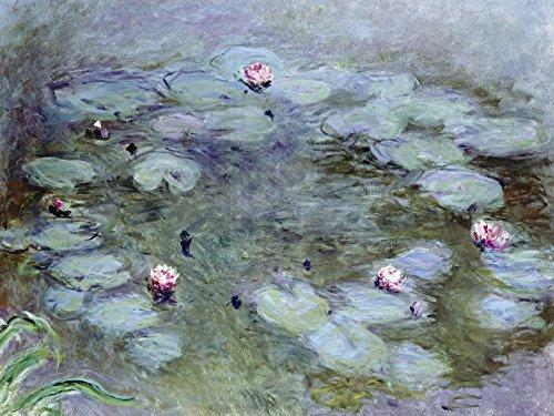 Preisvergleich Produktbild Artland Poster Kunstdruck oder Leinwand-Bild Wandbild fertig aufgespannt auf Keilrahmen Claude Monet Nymphéas 1914 17 Botanik Blumen Seerose Malerei Blau