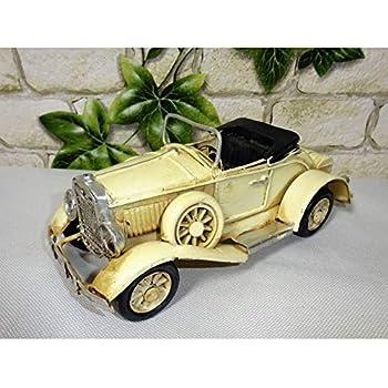 Modell Auto Oldtimer Cabrio Cabriolet schwarz 25cm Blech Metall Retro Stil Shabb