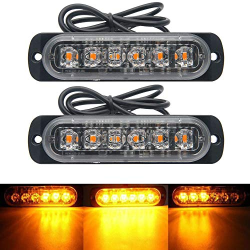 Maso Ambre restauration de voiture Strobe 6led lumières Orange Grill Panne clignotant 12/24 V Lot de 8