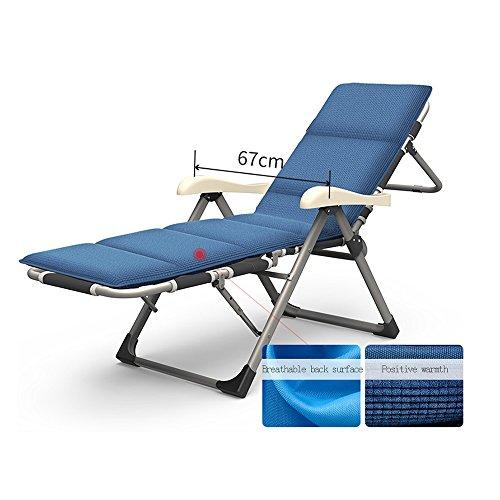 Liegestühle Amazing Lounge Chair Klappstuhl Recliner Mittagspause Stuhl Siesta Bett Multifunktionale Home Balkon Stuhl Büro Lazy Chair 7-Gang/zurück 7-Gang/Sitz einstellbar (Farbe : A)