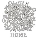Vintage Holzbuchstaben Buchstaben aus Holz Alphabet ABC (Weiß ca. 200 Stück)