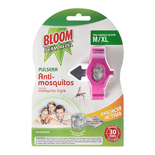 Bloom Derm Pulsera Anti-Mosquitos, M/XL