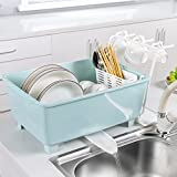 House Of Quirk Utensil Wash & Drying Rack With Drainboard