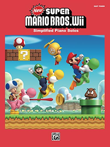 New Super Mario Bros. Wii for Easy Piano: Simplified Sheet Music Piano Solos From the Nintendo® Video Game Collection (English Edition)