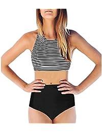 Bikini de mujer, SHOBDW Doblez color sólido de Bikiní de las mujeres verano 2017 dos piezas monokini beachwear acolchada de baño de playa