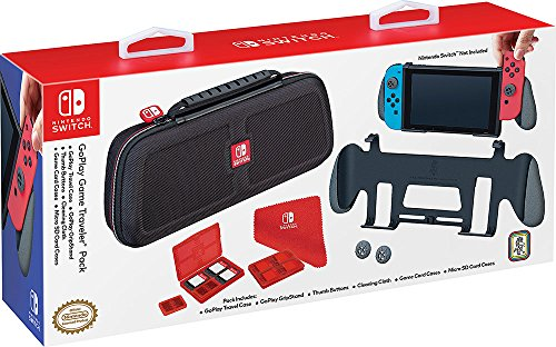 Bigben Interactive Custodia e Grip Ufficiale Go Play - Nintendo Switch [Bundle]