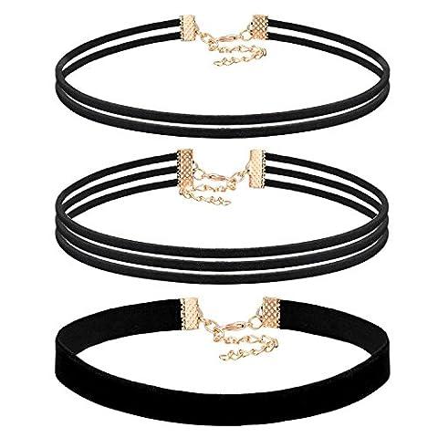 JewelryWe Schmuck 3 Stück Damen Hoker Halskette