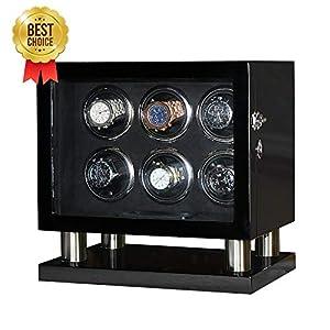 Uhrenbeweger Box für 6 automatische Uhren Power Mabuchi Motor mit LCD Touch Screen -TG8006BF
