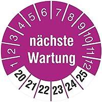 n/ächste Pr/üfung // 2020-2025 Pr/üfplaketten Pr/üfaufkleber Pr/üfetiketten Wartungsetiketten Jahresplakette rot 30mm 500 St/ück