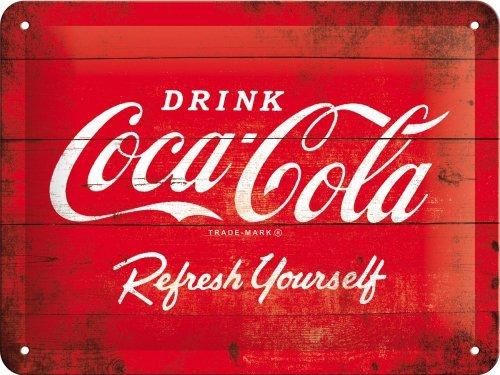Coca Cola, Rafraîchissement, Boisson, Effet Bois Boite, bas-côté Diner, café, Bar, Vintage, Rétro, Cageot, Cuisine, 3D Métal/Enseigne Mural En Acier