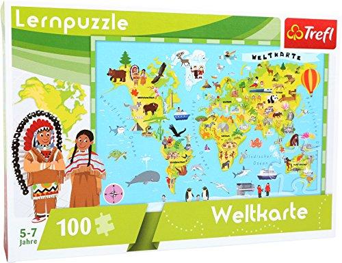 Wahrzeichen Collection (Puzzle - Lernpuzzle - Weltkarte - 100 Teile. Mit diesem Lernpuzzle bleibt keine Geographie-Frage mehr offen. Hier werden alle Länder mit den dazugehörigen Wahrzeichen abgebildet.)