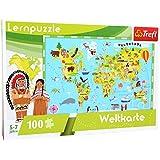 Puzzle - Lernpuzzle - Weltkarte - 100 Teile. Mit diesem Lernpuzzle bleibt keine Geographie-Frage mehr offen. Hier werden alle Länder mit den dazugehörigen Wahrzeichen abgebildet. Ein tolles Lernspiel für zu Hause.