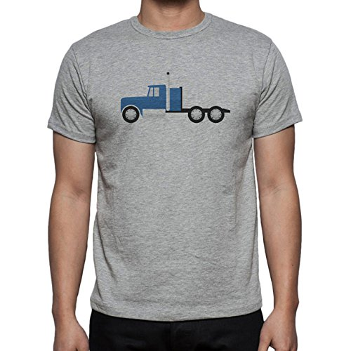 Car Vehicle Four Wheels Auto Blue Truck Herren T-Shirt Grau