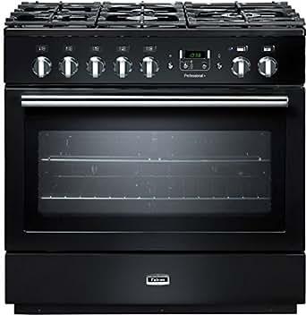 Falcon PROP90FXD Intégré Cuisinière à gaz A Noir - fours et cuisinières (Intégré, Noir, boutons, Rotatif, Devant, Électronique, Cuisinière à gaz)