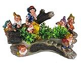 Design Schneewittchen mit 7 Zwerge 13018 Zwerg 27 cm Hoch Deko Garten Gartenzwerg Figuren Dekoration verschiedene Design