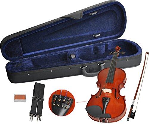 Erwachsenen-kind-böden (Handgearbeitetes Steinbach Geigenset in der Größe 4/4 inkl. Geigenbogen, Geigenkoffer und Kolophonium Anfängergeige Geige Kinder Erwachsene)