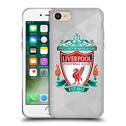 Offizielle Liverpool Football Club Schwarz 2 Crest 1 Soft Gel Hülle für Apple iPhone 6 / 6s Weiss Geometrisch 1