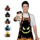 Halloween delantal de cocina decorativo y divertido para adultos y niños 75x 67cm