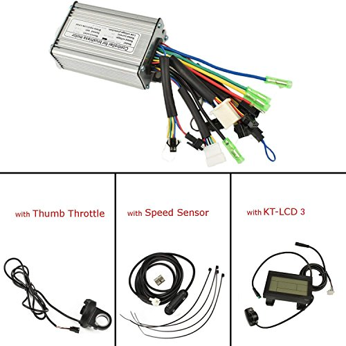 Pswpower 36V/48V 1000W-1500W 12Mosfets 35a brushless DC Torque Simulazione Square Wave Controller con kt-LCD, with Throttle