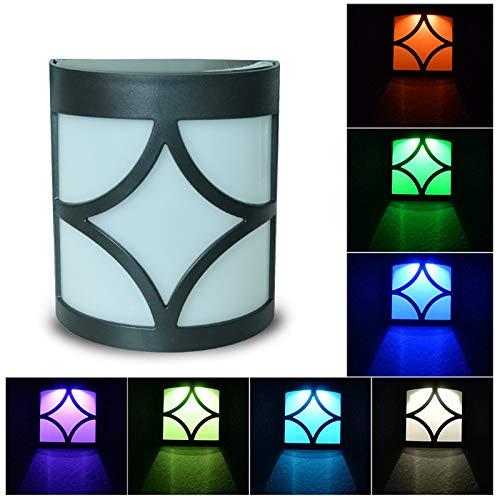 Gaddrt Solarleuchten für Außen Solarlampe Im Freien Wasserdichte IP65 dekorative Wandleuchte LED Farbe Gartenzaun Licht Sonnenlicht Solar-Laterne