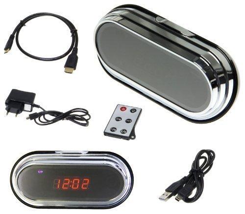 Full HD Spy Cam Wecker Clock Uhr Spion Mini Kamera HD DVR 8 GB SD Karte Set