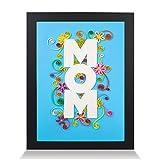 papertalk-100% handmade paper-quilling Bild gerahmt, Wand-Ständer 3d-Kunst, A4-Format, einzigartiges Geschenk ideal für Zuhause Quilled von Canadian Künstler-Zeichen Ewige Liebe Mutter Floral Mom