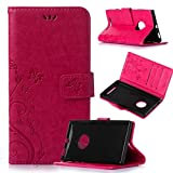 Beiuns Custodia in Pelle PU per Nokia Lumia 830 Custodie e Cover - R155 Rosso Bello