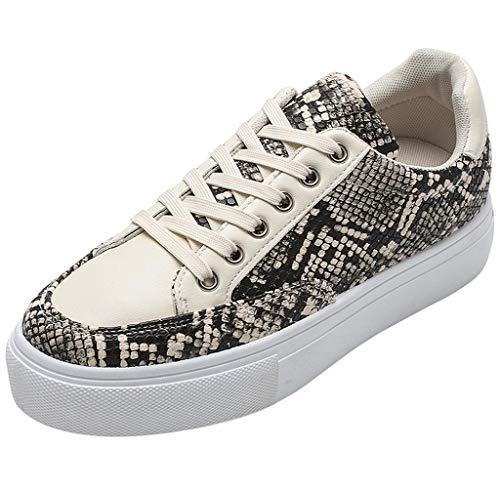 Jimmackey Scarpe da Ginnastica Basse Donna Scarpe Sportive Donna Serpente Stampa Sneaker