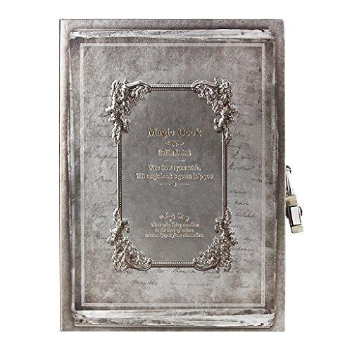 tro A5 Tagebuch Travel Diary Sketchbuch Notizblock mit codierten Lock klassische Vintage -Stil Hardcover Notebook für Ihre Gedanke ()