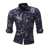 Luckycat Persönlichkeits Druck beiläufige beiläufige dünne Lange Hülsen Gedruckte Hemd Oberseiten Bluse Mode 2018