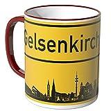 Wandkings® Tasse, Skyline Gelsenkirchen - ROT