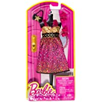 Shoulder Strap Sweetheart Top Leopard-Print Waistband Dress + Shoes & Bag: Barbie Fashion Pack (Doll NOT Included)