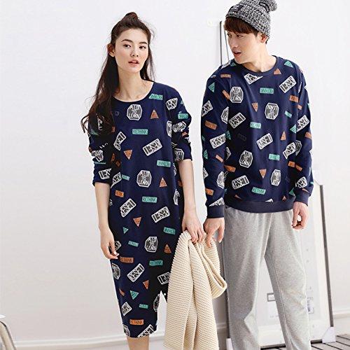 Oneworld Damen Herren Liebespaar 100 Baumwolle Pyjamas Set ...