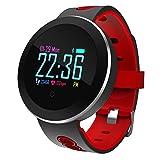 Positionierung Uhr Wasserdichte Bluetooth-Uhr Smart-Armband Farbe Kreisförmige Bewegung Schritt Herzfrequenz Blutdruck Armband,Red