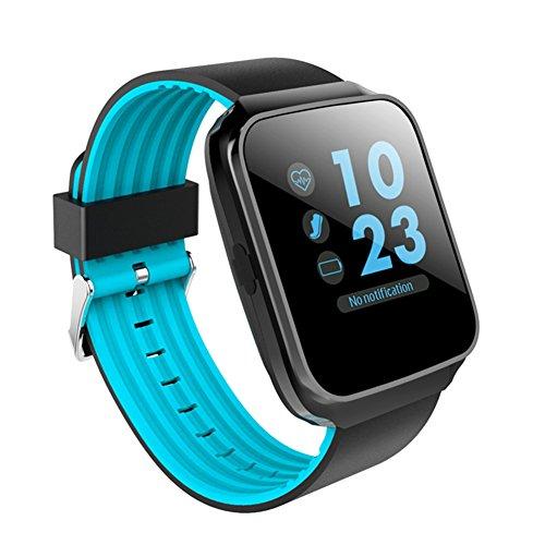 UxradG Fitness Tracker, Z40Bluetooth Sport Smart Watch Herren Damen Armband Herz Rate Blutdruckmessgerät-Handgelenk Tragbar Geräte für iOS Android Vs GV68Sport Schrittzähler Armbanduhr, Blau